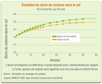 Evolution du stock de carbone dans le sol